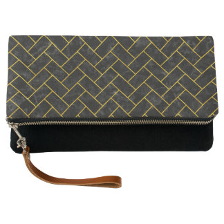 BRICK2 BLACK MARBLE & YELLOW MARBLE CLUTCH