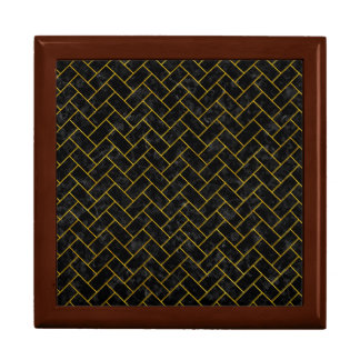 BRICK2 BLACK MARBLE & YELLOW MARBLE GIFT BOX