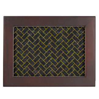 BRICK2 BLACK MARBLE & YELLOW MARBLE KEEPSAKE BOX