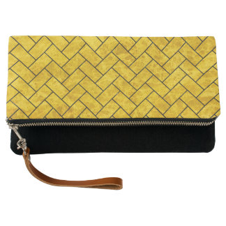 BRICK2 BLACK MARBLE & YELLOW MARBLE (R) CLUTCH