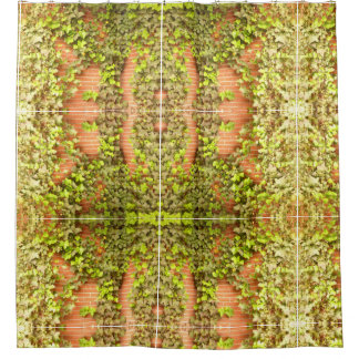 Brick and Ivy Shower Curtain