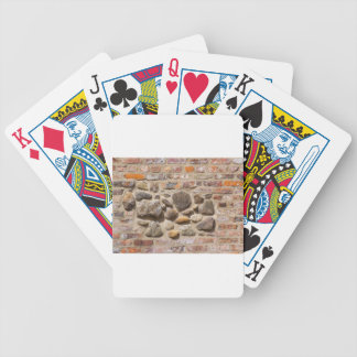 Brick and stone wall bicycle playing cards