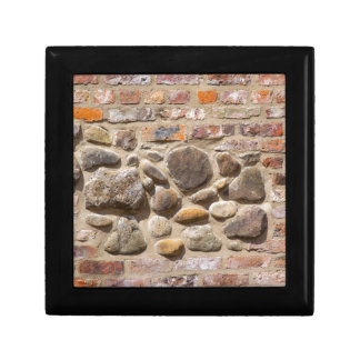 Brick and stone wall gift box