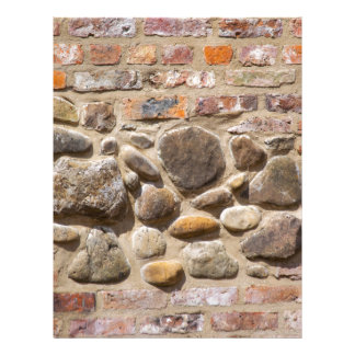 Brick and stone wall letterhead
