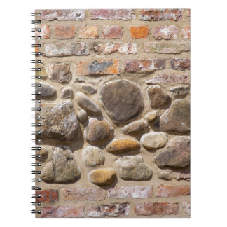 Brick and stone wall notebooks