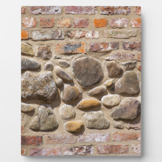 Brick and stone wall plaque