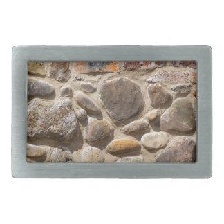 Brick and stone wall rectangular belt buckles