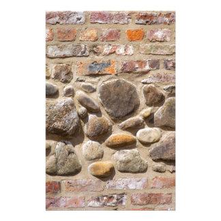 Brick and stone wall stationery