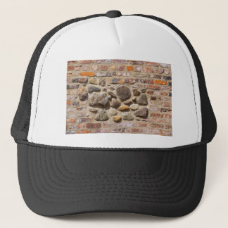 Brick and stone wall trucker hat