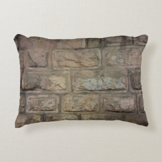 "Brick Brushed Polyester Accent Pillow 16"" x 12"""