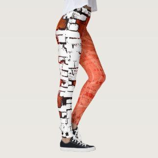 Brick City Abstract Pattern Leggings