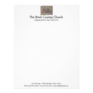Brick Country Church Letterhead Template