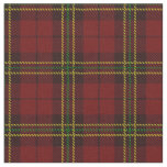 Brick deep Red plaid yellow/green & black stripe Fabric