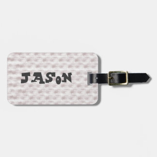 Brick Design Personalized Luggage Tag