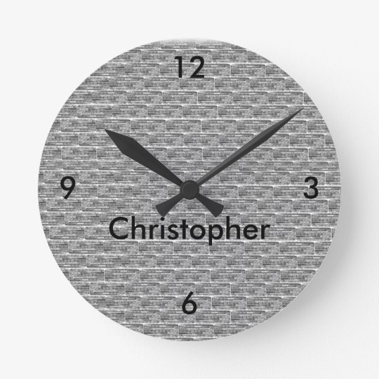Brick Design Personalized Wall Clock