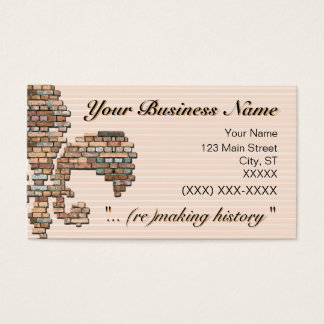 """brick fleur de lis"" business card - 2"