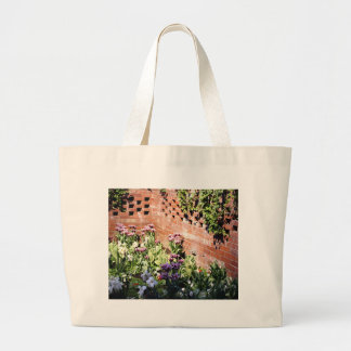 Brick Garden Large Tote Bag