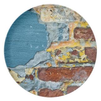 Brick Grunge Texture Plate