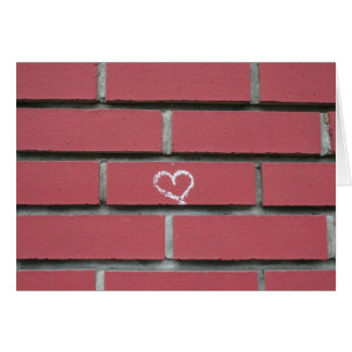 Brick Heart Card