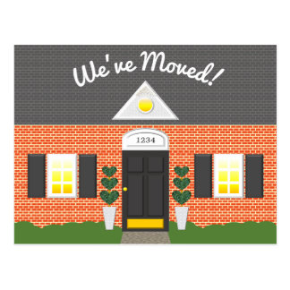 Brick House Facade New Address Postcard