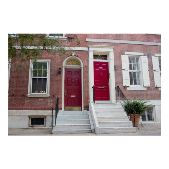 Brick Houses Red Doors Poster