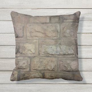 "Brick Outdoor Throw Pillow, Throw Pillow 16"" x 16"""