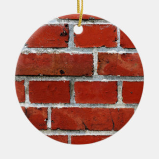 Brick Pattern Ceramic Ornament