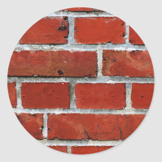 Brick Pattern Classic Round Sticker