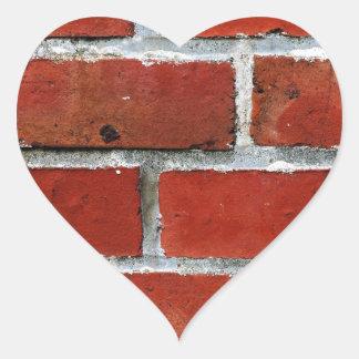 Brick Pattern Heart Sticker