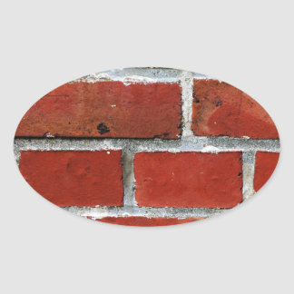 Brick Pattern Oval Sticker