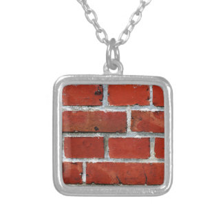 Brick Pattern Silver Plated Necklace