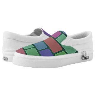 brick pattern Slip-On sneakers