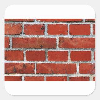 Brick Pattern Square Sticker