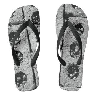 Brick Pavers Photograph On Flip flops