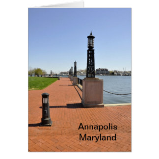 Brick pier by bay in Annapolis, Maryland Card