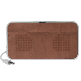 Brick Red Paper creased background Travel Speakers