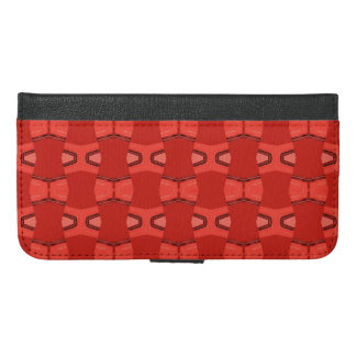 Brick red tribal iPhone 6/6s plus wallet case