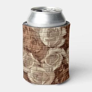 Brick Roses 13-Brown-Drink Can Cooler