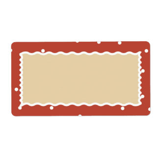 Brick Snow Many Cookies Gift tag Shipping Label