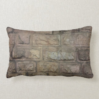 "Brick Throw Pillow, Lumbar Pillow 13"" x 21"""