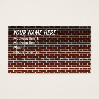 BRICK WALL #1 BUSINESS CARD
