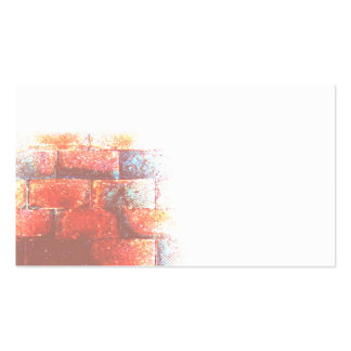 Brick Wall and White Space. Digital Art. Business Card Template