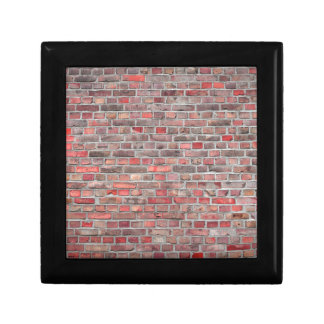 brick wall  background - red vintage stone gift box
