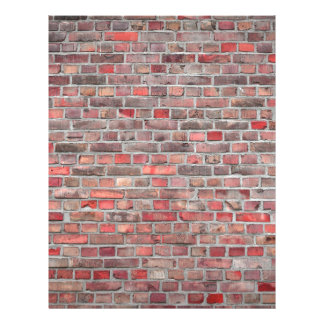 brick wall  background - red vintage stone letterhead