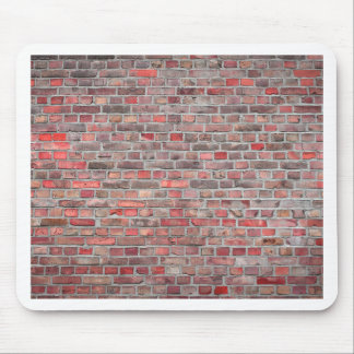 brick wall  background - red vintage stone mouse pad