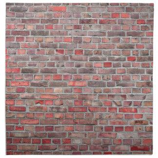 brick wall  background - red vintage stone napkin