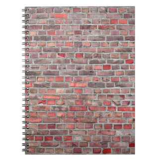brick wall  background - red vintage stone notebook