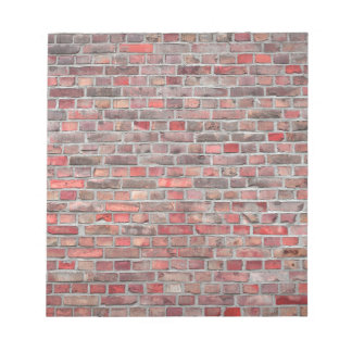 brick wall  background - red vintage stone notepad