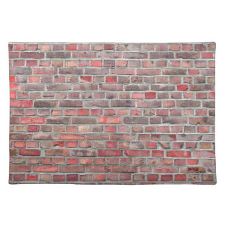 brick wall  background - red vintage stone placemat