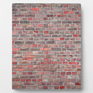 brick wall  background - red vintage stone plaque